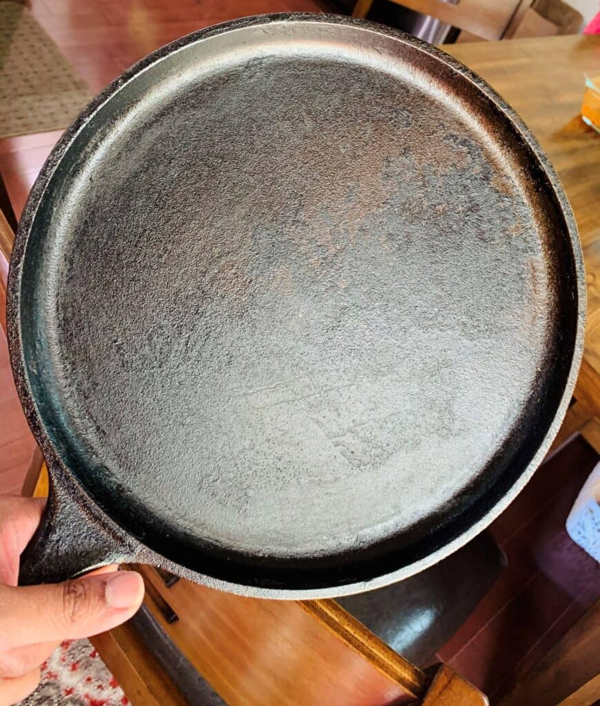 Seasoned pan.